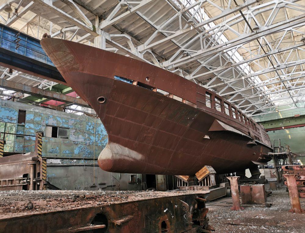 Hull of passenger vessel or mega yacht for sale