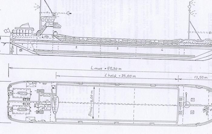 Self propelled split barge for sale